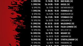 Spiele bis zum 21. Spieltag der LOTTO Hessenliga terminiert