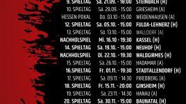 Heimspiele gegen Kassel und Waldgirmes neu terminiert