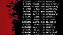 Hinrundenspiele des SC Hessen Dreieich terminiert