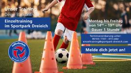 Fußballschule Sportpark Dreieich bietet  Einzeltraining an