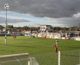 Ansicht des Dreieicher Sportparks während einer Spielszene